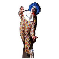IT IS A VERY Scary Male Clown Lifesize Cardboard Cut Out - Scary Gifts
