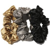 Slip Silk Large Scrunchies (Various Colours) - Black Leopard