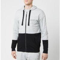 BOSS Hugo Boss Mens Hooded Zip Top - Grey/Black - XL - Grey