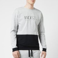 BOSS Hugo Boss Men's Logo Crew Neck Sweat Top - Grey/Black - M - Grey