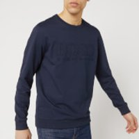 BOSS Hugo Boss Men's Embossed Logo Sweatshirt - Navy - S - Blue