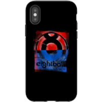 Ei8htball Messy Stencil Logo Phone Case for iPhone and Android - iPhone X - Tough Case - Matte
