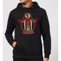 Captain Marvel Flying Warrior Hoodie - Black - S - Black