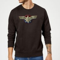 Captain Marvel Chest Emblem Sweatshirt - Black - M - Black
