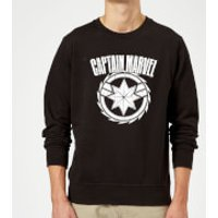 Captain Marvel Logo Sweatshirt - Black - XL - Black