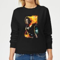 Captain Marvel Galactic Shine Women's Sweatshirt - Black - L - Black