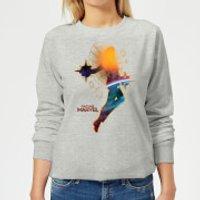 Captain Marvel Nebula Flight Women's Sweatshirt - Grey - XXL - Grey