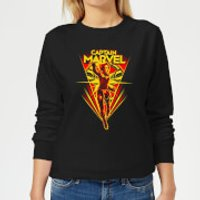 Captain Marvel Freefall Women's Sweatshirt - Black - 4XL - Black