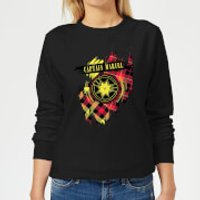 Captain Marvel Tartan Patch Women's Sweatshirt - Black - M - Black