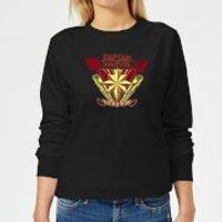 Captain Marvel Protector Of The Skies Women's Sweatshirt - Black - L - Black