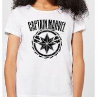 Captain Marvel Logo Women's T-Shirt - White - S - White