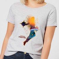 Captain Marvel Nebula Flight Women's T-Shirt - Grey - L - Grey