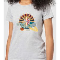 Captain Marvel Star Power Women's T-Shirt - Grey - 5XL - Grey