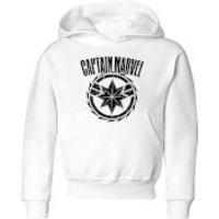 Captain Marvel Logo Kids' Hoodie - White - 7-8 Years - White