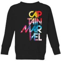 Captain Marvel Galactic Text Kids' Sweatshirt - Black - 5-6 Years - Black