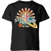 Captain Marvel Star Power Kids' T-Shirt - Black - 9-10 Years - Black
