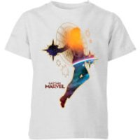 Captain Marvel Nebula Flight Kids' T-Shirt - Grey - 11-12 Years - Grey