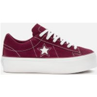 Converse Women's One Star Platform Ox Trainers - Rhubarb/White - UK 7