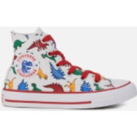 Converse Kids Chuck Taylor All Star Hi-Top Trainers - White/Enamel Red/Totally Blue - UK 1 Kids