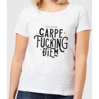Carpe F*cking Diem Women's T-Shirt - White - XL - White