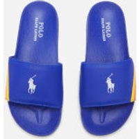 Polo Ralph Lauren Kids' Fletcher Slide Sandals - Royal/White PP - UK 1 Kids/EU 32 - Blue
