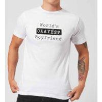 World's Okayest Boyfriend Men's T-Shirt - White - XXL - White - Boyfriend Gifts
