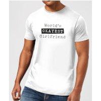 World's Okayest Girlfriend Men's T-Shirt - White - XXL - White - Girlfriend Gifts