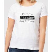 World's Okayest Boyfriend Women's T-Shirt - White - 5XL - White - Boyfriend Gifts
