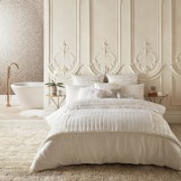 Kylie Minogue Bardot Quilt Duvet Cover - Oyster - Super King