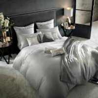 Kylie Minogue Messina Quilt Duvet Cover - Quartz - Super King