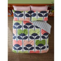 Orla Kiely Climbing Rose Duvet Cover - Rose - King