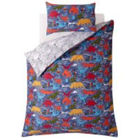 Fat Face Kids Wild Imagination Quilt Duvet Cover Set - Blue - Single