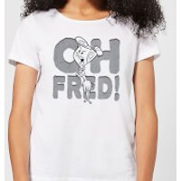 The Flintstones Oh Fred! Women's T-Shirt - White - L - White