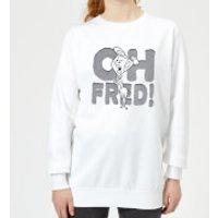 The Flintstones Oh Fred! Women's Sweatshirt - White - XXL - White