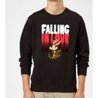 Looney Tunes Falling In Love Wile E. Coyote Sweatshirt - Black - 5XL - Black