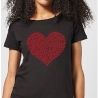 Super Mario Items Heart Women's T-Shirt - Black - XXL - Black