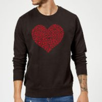 Super Mario Items Heart Sweatshirt - Black - M - Black