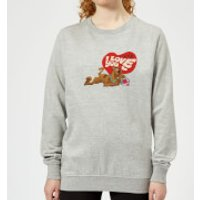 Scooby Doo It's No Mystery I Love You Women's Sweatshirt - Grey - 3XL - Grey