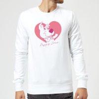 Scooby Doo Puppy Love Sweatshirt - White - XL - White
