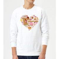 Scooby Doo Snacks Are My Valentine Sweatshirt - White - XXL - White