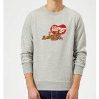 Scooby Doo It's No Mystery I Love You Sweatshirt - Grey - L - Grey