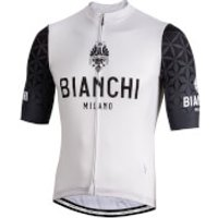 Bianchi Pedaso Short Sleeve Jersey - L - White/Black