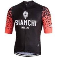 Bianchi Pedaso Short Sleeve Jersey - S - Black/Pink