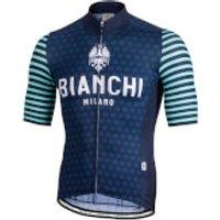 Bianchi Davoli Short Sleeve Jersey - L - Black/Blue