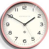 Newgate Number Three Echo Wall Clock - Marshmallow Pink