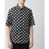 Versus Versace Men's Dot Shirt - Black/White - EU 50/16 Inch