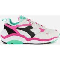 Diadora Women's Whizz Run Trainers - White/Fluo Fuchsia/Electric GR - UK 7