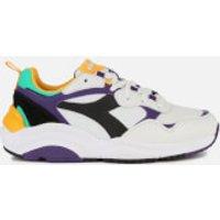 Diadora Diadora Whizz Run Trainers - White/Black/Mulberry Purple - UK 11