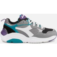 Diadora Whizz Run Trainers - Charcoal Grey/White/Harbor Blue - UK 6