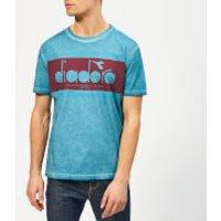 Diadora Men's Spectra Used Short Sleeve T-Shirt - Blue Pearl Arbor - S